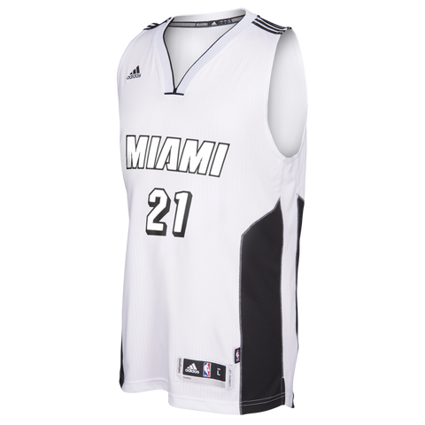 Hassan Whiteside Miami HEAT adidas White Tie Swingman jersey