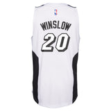 Justise Winslow Miami HEAT adidas White Tie Youth Swingman Jersey