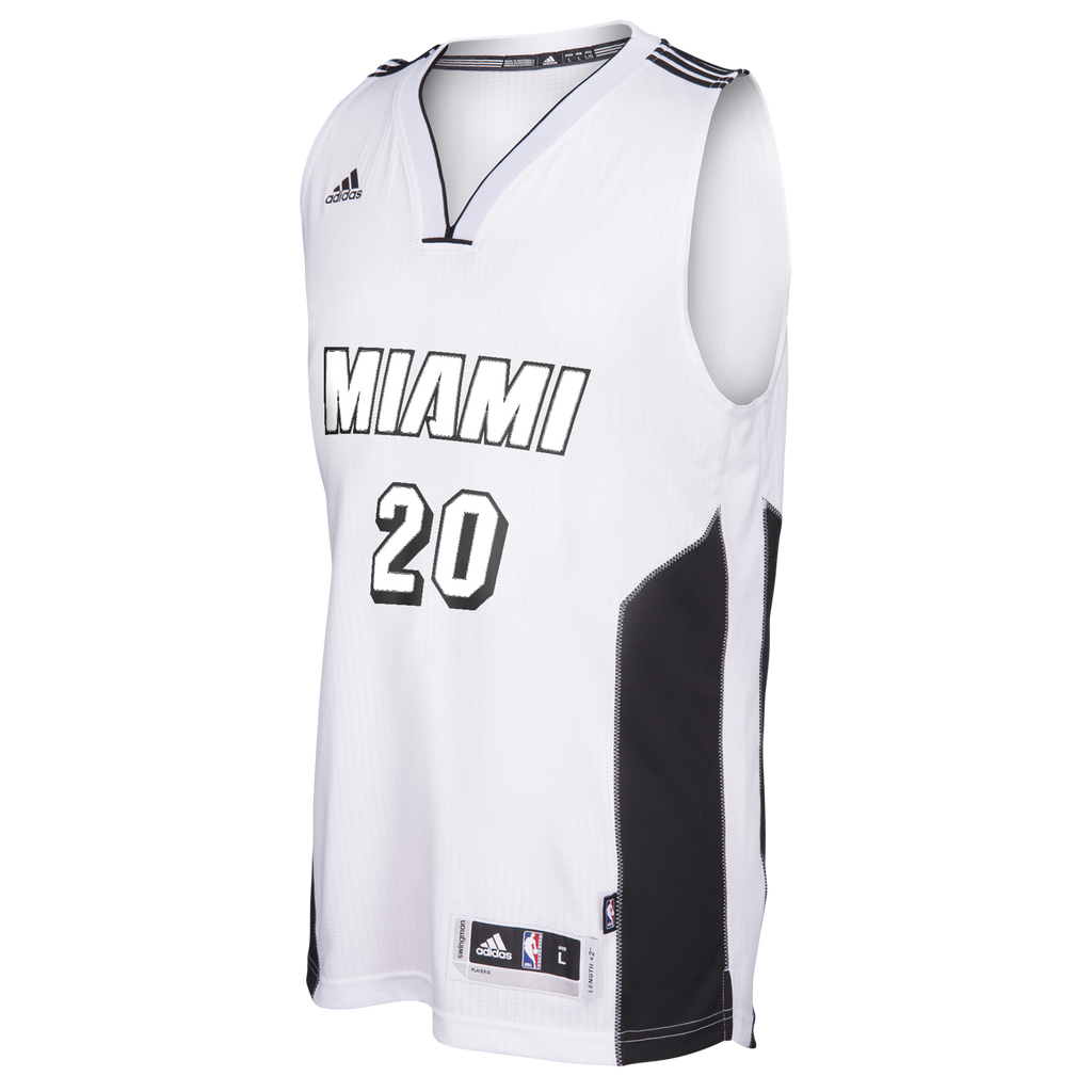 Justise Winslow Miami HEAT adidas White Tie Swingman jersey - featured image