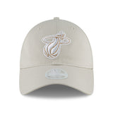 New ERA Miami HEAT Ladies Team Glisten Light Grey - 1