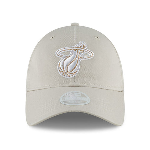 New ERA Miami HEAT Ladies Team Glisten Light Grey