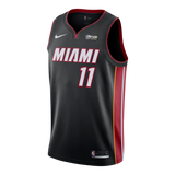 Dion Waiters Nike Miami HEAT Icon Black Swingman Jersey - 1