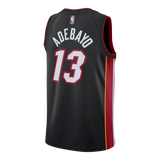 Bam Adebayo Nike Miami HEAT Icon Black Youth Swingman Jersey - 2