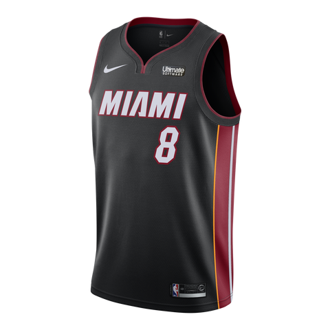 Tyler Johnson Nike Miami HEAT Home Swingman Jersey Black