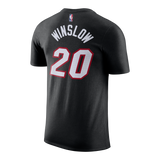 Justise Winslow Nike Miami HEAT Youth Black Name & Number Tee - 2