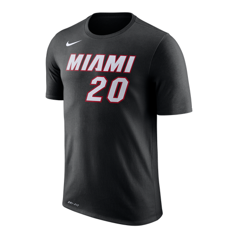 Justise Winslow Nike Miami HEAT Black Name & Number Tee