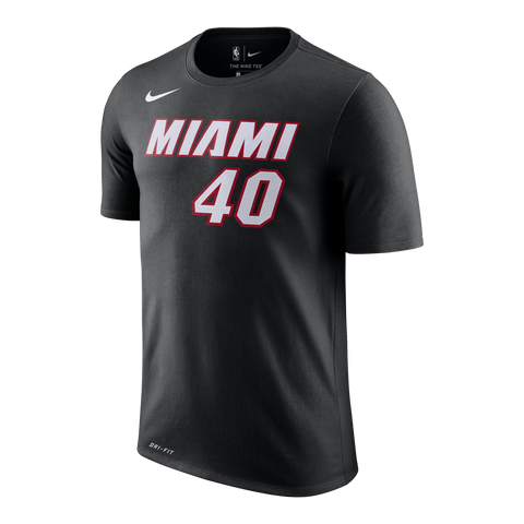Udonis Haslem Nike Miami HEAT Black Name & Number Tee