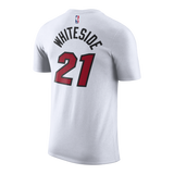 Hassan Whiteside Nike Miami HEAT Youth White Name & Number Tee - 2