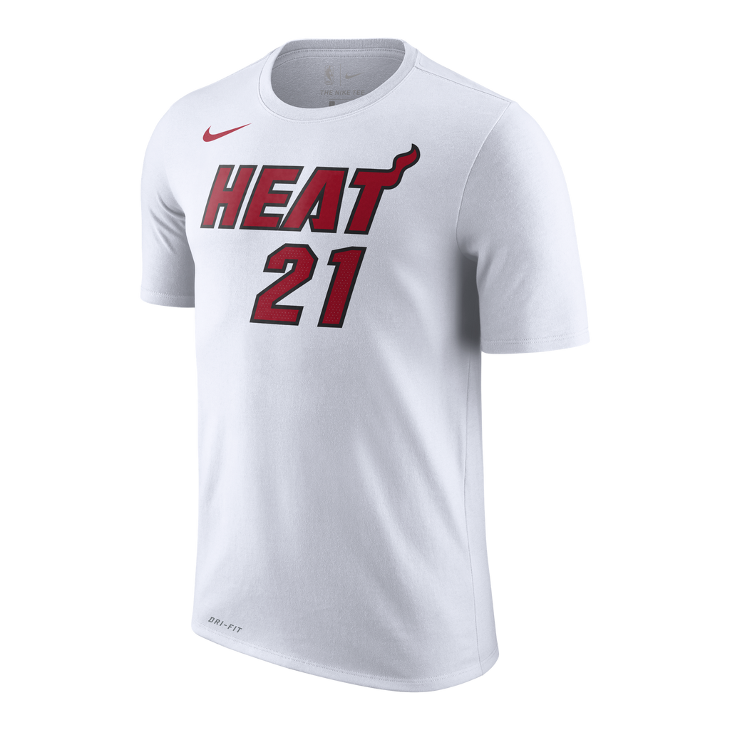 Hassan Whiteside Nike Miami HEAT Youth White Name & Number Tee - featured image