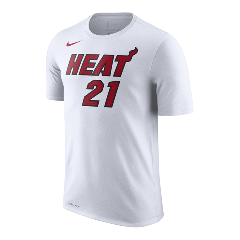 Hassan Whiteside Nike Miami HEAT White Name & Number Tee