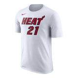 Hassan Whiteside Nike Miami HEAT Youth White Name & Number Tee - 1