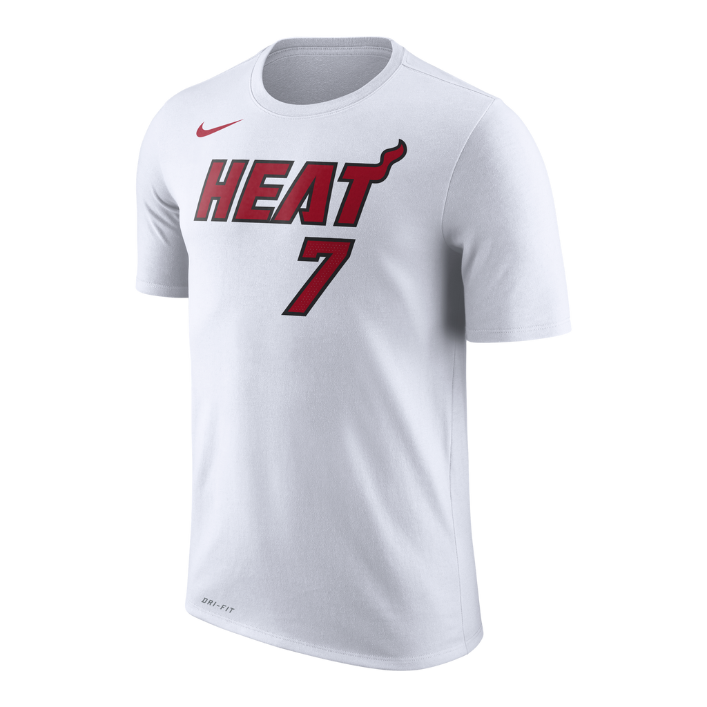 Goran Dragic Nike Miami HEAT White Name & Number Tee - featured image
