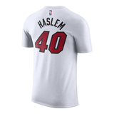 Udonis Haslem Nike Miami HEAT White Name & Number Tee - 2