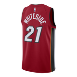 Hassan Whiteside Nike Miami HEAT Road Youth Swingman Jersey Red - 2