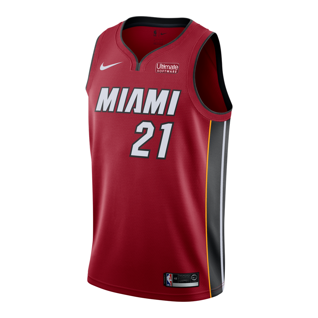 Hassan Whiteside Nike Miami HEAT Road Swingman Jersey Red - featured image
