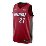 Hassan Whiteside Nike Miami HEAT Road Youth Swingman Jersey Red - 1