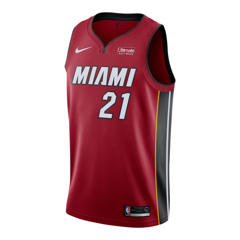 Hassan Whiteside Nike Miami HEAT Road Youth Swingman Jersey Red