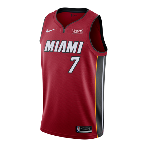 Goran Dragic Nike Miami HEAT Road Youth Swingman Jersey Red