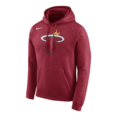 Nike Miami HEAT Logo Club Hoodie Red
