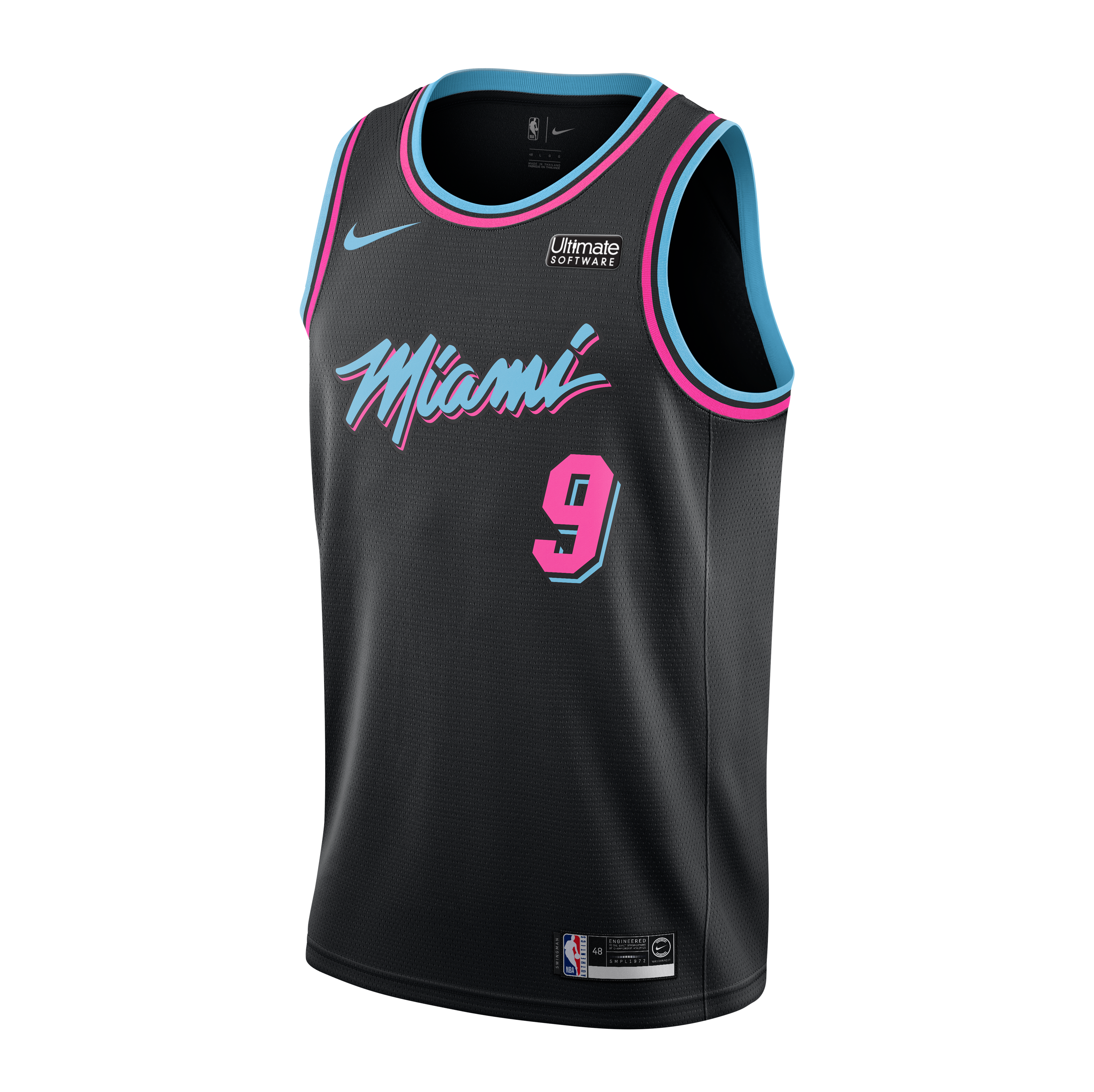 new arrival 875a4 7eb81 Kelly Olynyk Nike Miami HEAT Vice Nights Swingman Jersey
