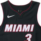 Dwyane Wade Nike Icon Black Authentic Jersey - 4