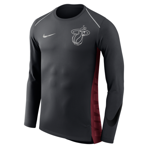 Nike Miami HEAT Alternate Hyperelite Long Sleeve Shooting Shirt