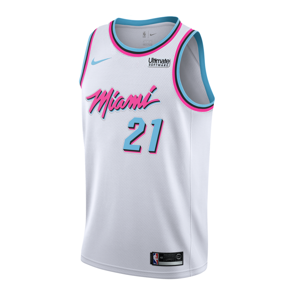 Hassan Whiteside Nike Miami HEAT Youth Vice Uniform City Edition Swingman Jersey - featured image