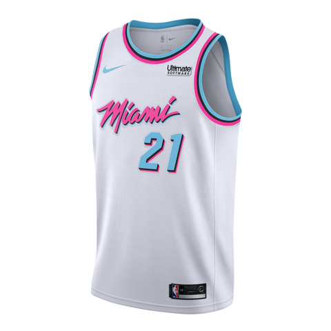SHIPPING BY JUNE 1ST - Hassan Whiteside Nike Miami HEAT Youth Vice Uniform City Edition Swingman Jersey