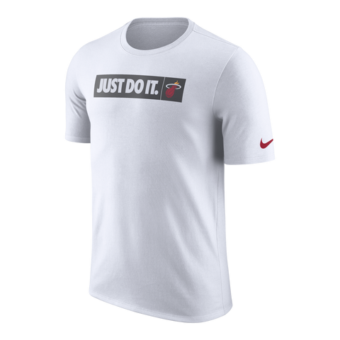 Nike Miami HEAT Youth Just Do It White Tee