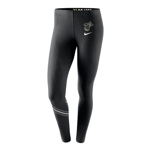 Nike Miami HEAT Ladies Black & White Leg-A-See Pants