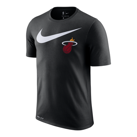 Nike Miami HEAT Short Sleeve 2018 Swoosh Tee Black