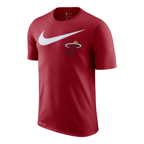 Nike Miami HEAT Short Sleeve 2018 Swoosh Tee Red