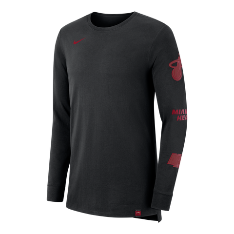 Nike Miami HEAT Long Sleeve Team Logo Sleeve