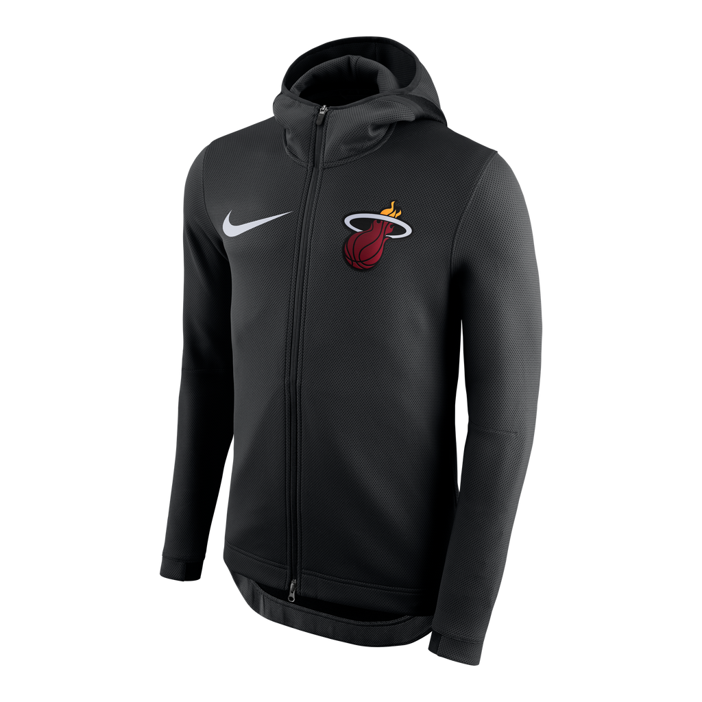 Nike Miami HEAT Thermaflex Showtime Full Zip Black Hoodie - featured image