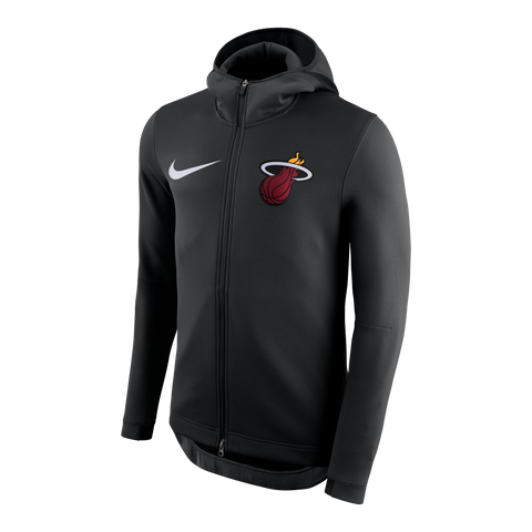 Nike Miami HEAT Thermaflex Showtime Full Zip Black Hoodie