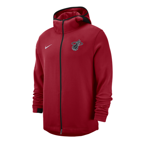 Nike Miami HEAT Dry Showtime Full Zip Red Hoodie