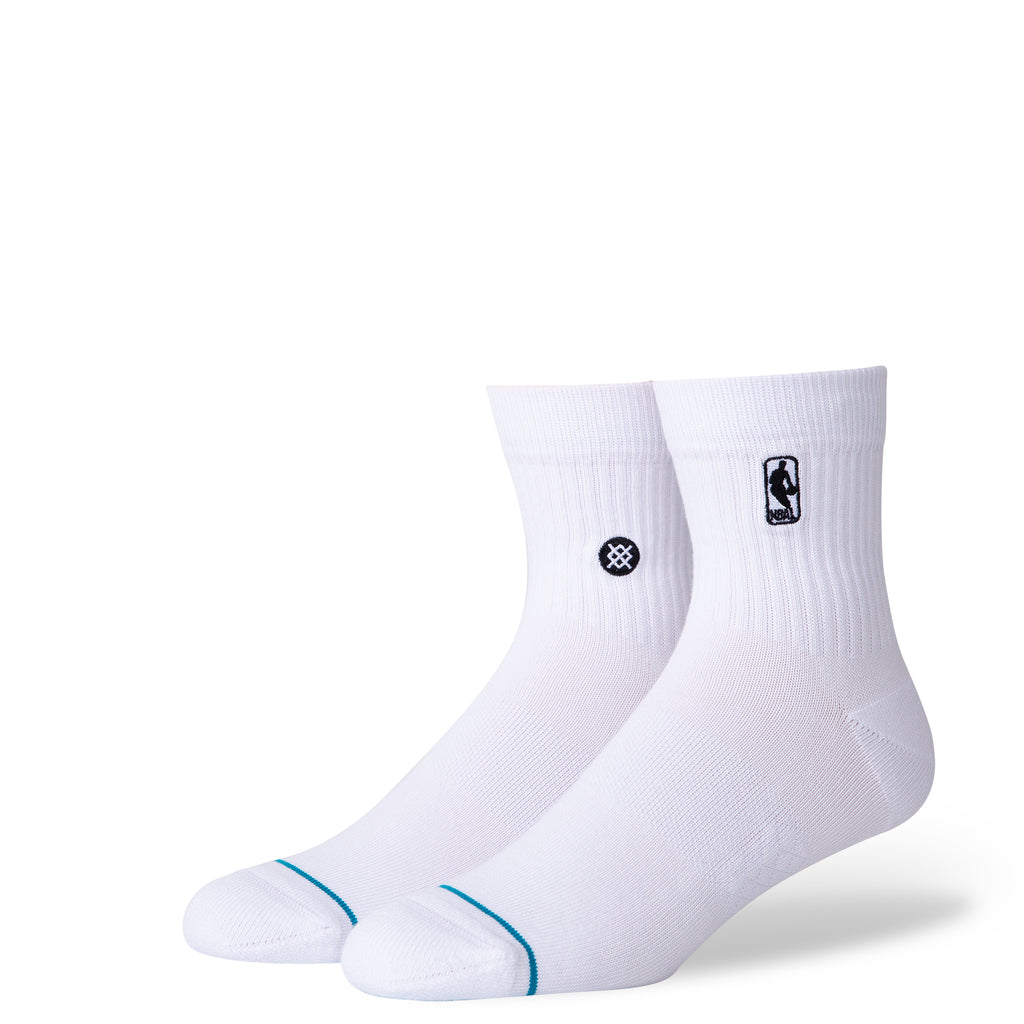 Stance NBA Logoman White Quarter Socks - featured image