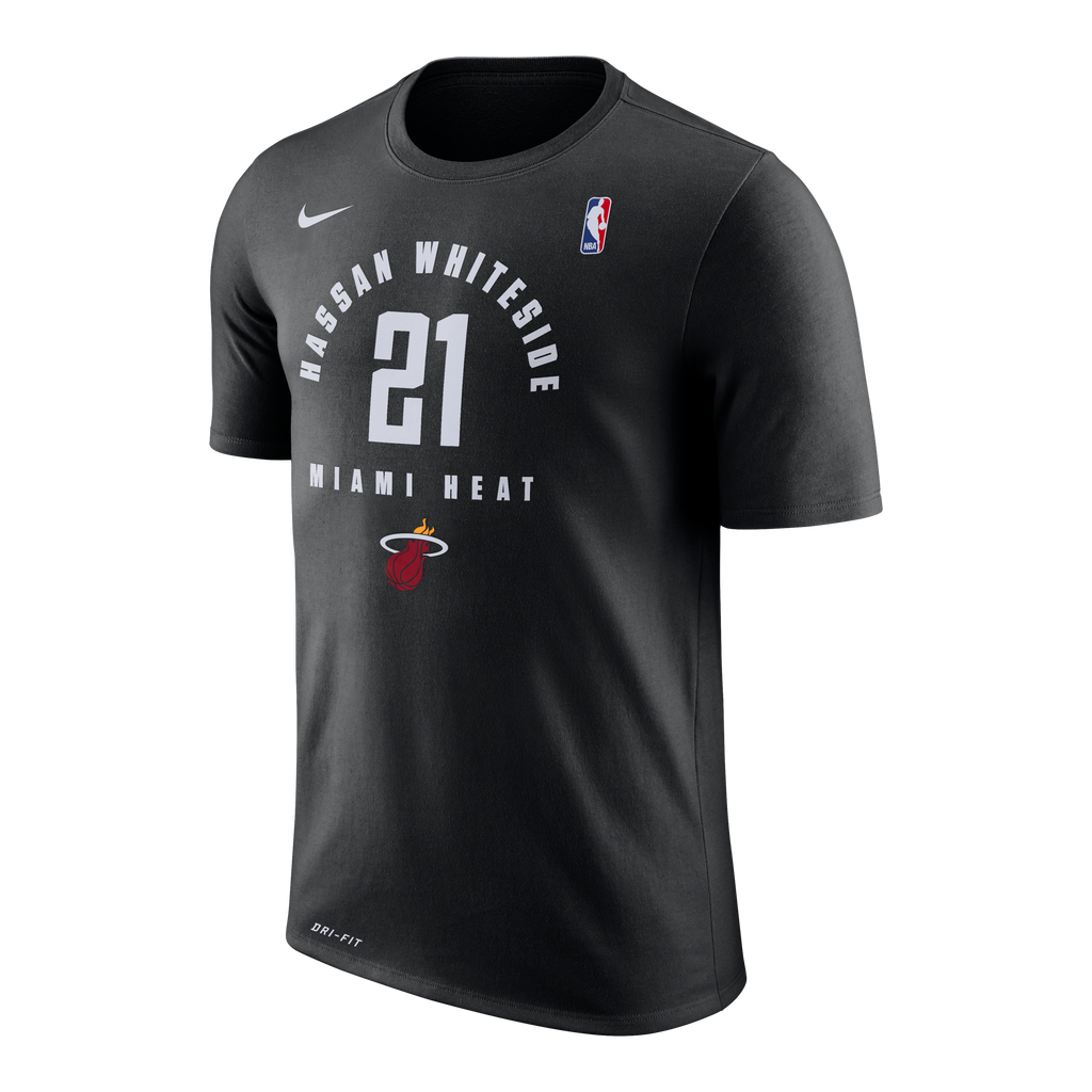 Nike Miami HEAT Whiteside Practice Name & Number Tee - featured image