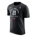 Nike Miami HEAT Whiteside Practice Name & Number Tee - 1