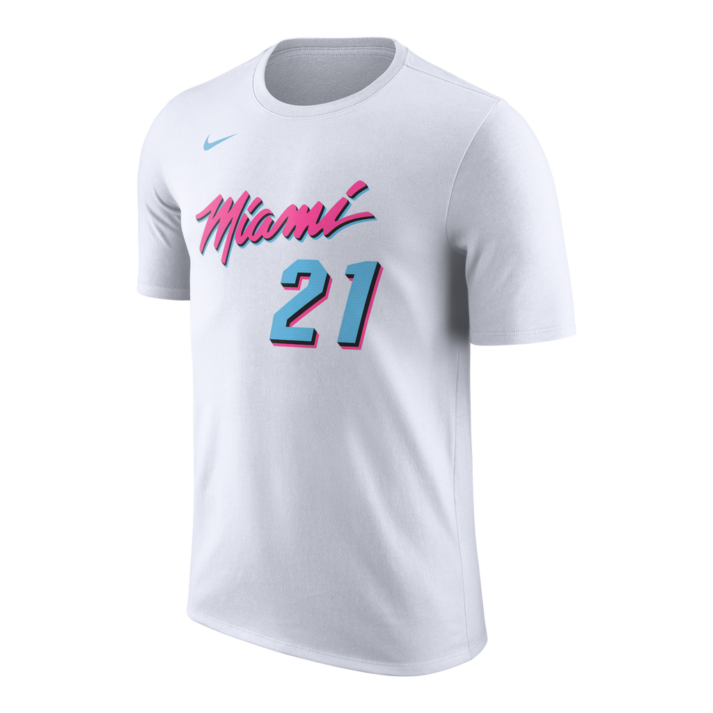 Hassan Whiteside Nike Miami HEAT Vice Uniform City Edition Kids Name & Number Tee - featured image