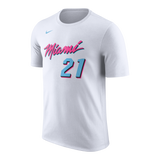 Hassan Whiteside Nike Miami HEAT Vice Uniform City Edition Kids Name & Number Tee - 1