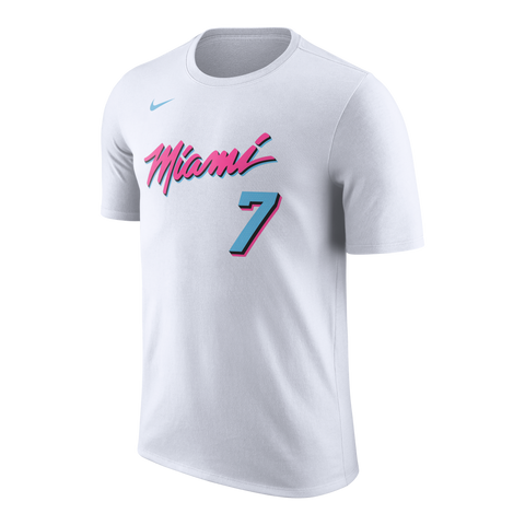 Goran Dragic Nike Miami HEAT Vice Uniform City Edition Name & Number Tee