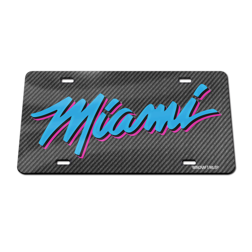 Wincraft Miami HEAT Vice Nights Acrylic MIAMI Plate - featured image