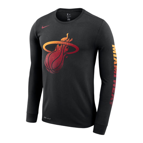 Nike Long Sleeve HEAT Logo Dri-Fit Tee
