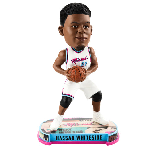 Forever Collectibles Miami HEAT Hassan Whiteside Vice Uniform City Edition Bobble Head