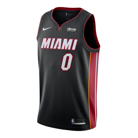 Meyers Leonard Nike Miami HEAT Youth Icon Black Swingman Jersey