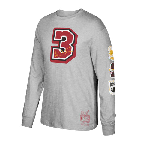 Mitchell & Ness Dwyane Wade Long Sleeve Traditional Tee