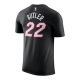 Jimmy Butler Icon Black Name & Number Tee - 2