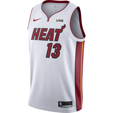 Bam Adebayo Nike Miami HEAT Association White Swingman Jersey