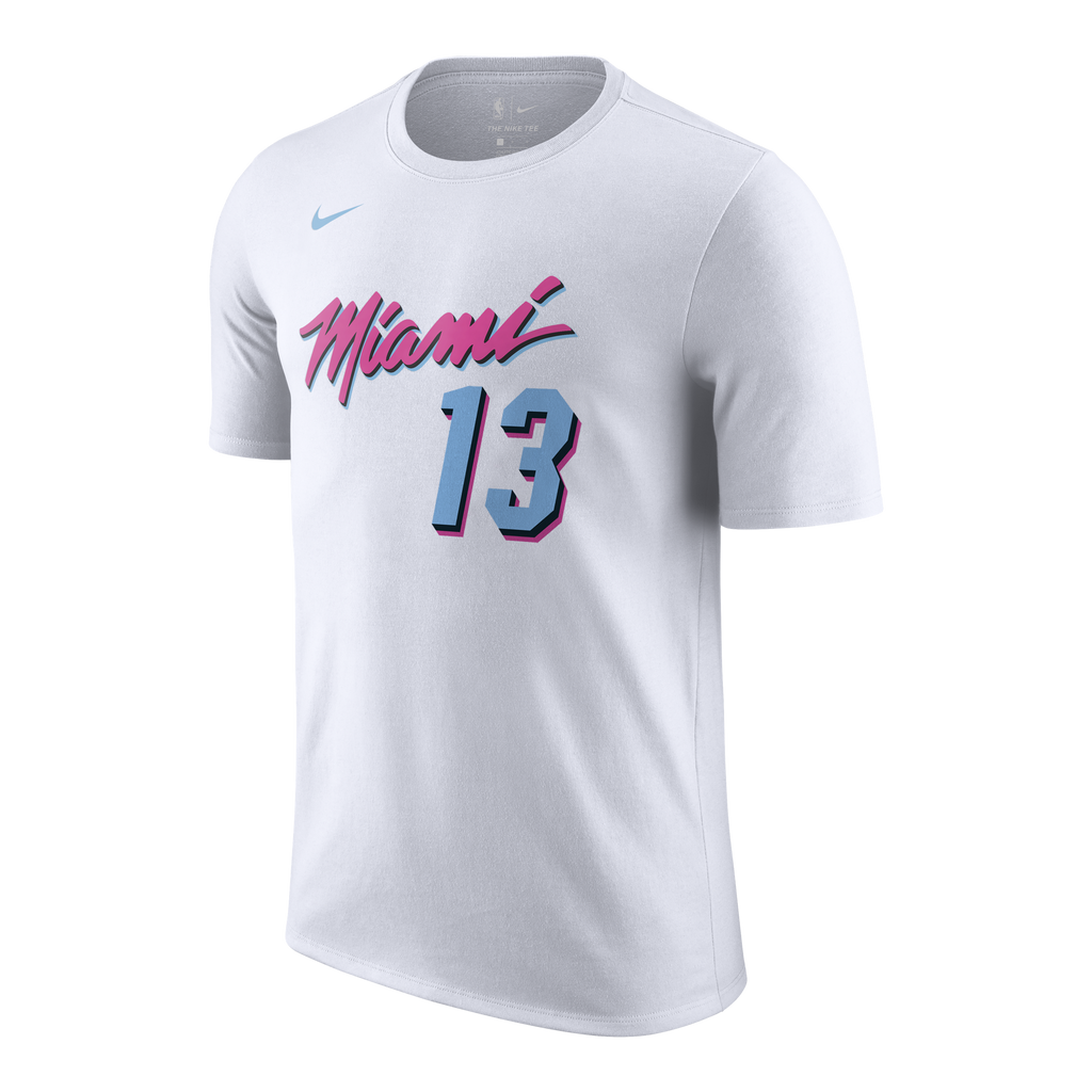Bam Adebayo Nike Miami HEAT Vice Uniform City Edition Youth Name & Number Tee - featured image